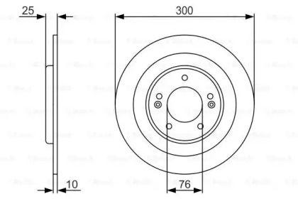 Тормозной диск на Хендай Ай40 'BOSCH 0 986 479 A46'.
