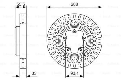 Вентилируемый тормозной диск на Форд Турнео Кастом 'BOSCH 0 986 479 A49'.