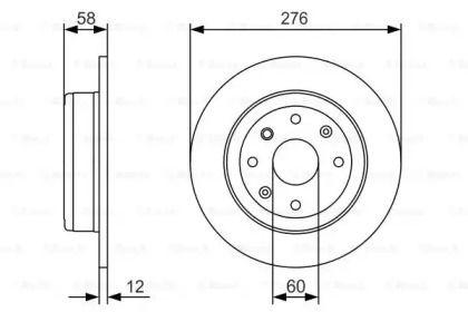 Тормозной диск на CHEVROLET EPICA 'BOSCH 0 986 479 A56'.