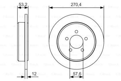 Тормозной диск на DODGE NEON 'BOSCH 0 986 479 A80'.