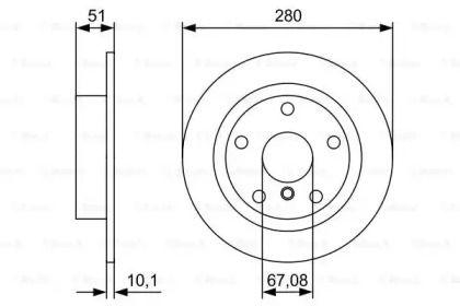 Тормозной диск на БМВ Ай3 'BOSCH 0 986 479 C92'.