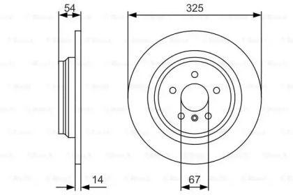 Тормозной диск на MERCEDES-BENZ GLE 'BOSCH 0 986 479 D10'.