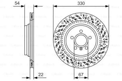 Вентилируемый тормозной диск на MERCEDES-BENZ GLE 'BOSCH 0 986 479 D11'.
