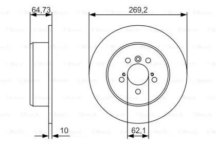 Тормозной диск на Тайота Камри 'BOSCH 0 986 479 R00'.
