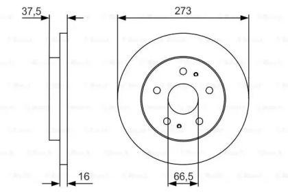Тормозной диск на DAIHATSU TERIOS 'BOSCH 0 986 479 R02'.