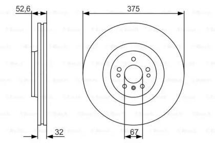 Вентилируемый тормозной диск на MERCEDES-BENZ GL-CLASS 'BOSCH 0 986 479 R31'.