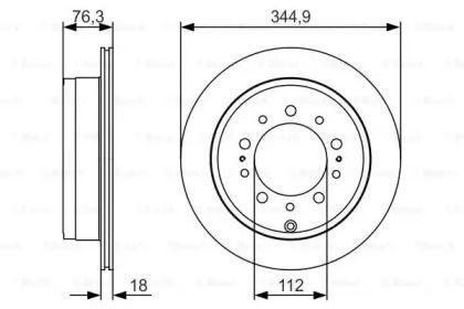 Вентилируемый тормозной диск на LEXUS LX 'BOSCH 0 986 479 R32'.
