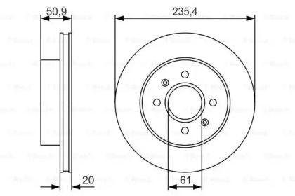 Вентилируемый тормозной диск на Дача Нова 'BOSCH 0 986 479 R52'.