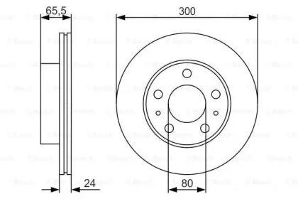 Вентилируемый тормозной диск BOSCH 0 986 479 R86.