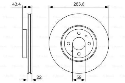 Вентилируемый тормозной диск на Лянча Либра 'BOSCH 0 986 479 S01'.