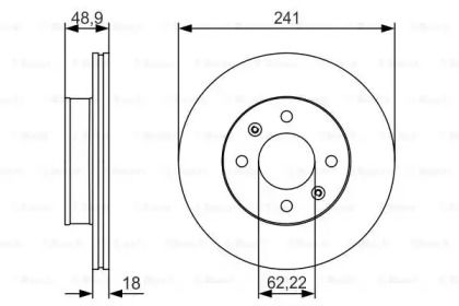 Вентилируемый тормозной диск на KIA PICANTO BOSCH 0 986 479 S04.