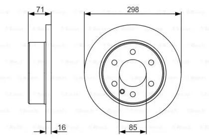 Тормозной диск на Фольксваген Крафтер 'BOSCH 0 986 479 S05'.