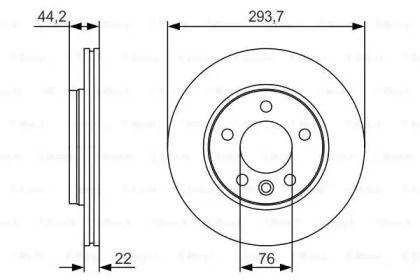 Вентилируемый тормозной диск на Фольксваген Мультивен 'BOSCH 0 986 479 S06'.