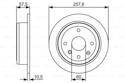 Тормозной диск на Шевроле Оптра 'BOSCH 0 986 479 S08'.