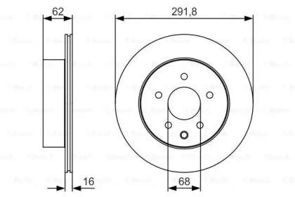 Вентилируемый тормозной диск на NISSAN LEAF BOSCH 0 986 479 S31.