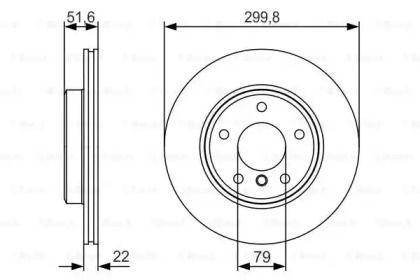 Вентилируемый тормозной диск на BMW Z4 'BOSCH 0 986 479 S32'.