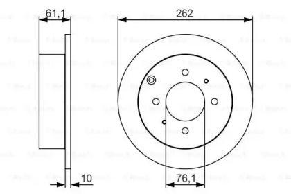 Тормозной диск на HYUNDAI MATRIX 'BOSCH 0 986 479 S68'.