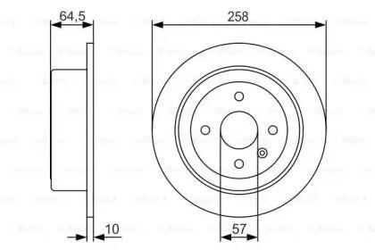 Тормозной диск на Дэу Нубира 'BOSCH 0 986 479 S75'.