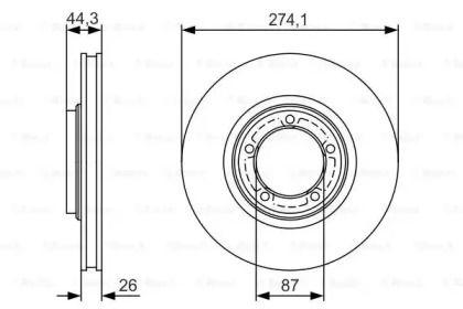 Вентилируемый тормозной диск на HYUNDAI H-1 'BOSCH 0 986 479 S79'.