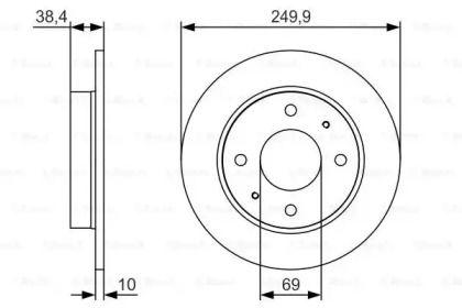 Тормозной диск на SMART FORFOUR 'BOSCH 0 986 479 S84'.