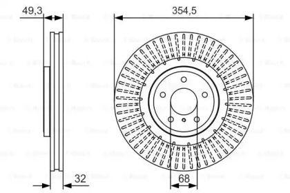Вентилируемый тормозной диск на INFINITI FX 'BOSCH 0 986 479 T02'.