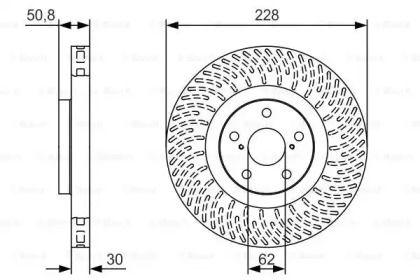 Вентилируемый тормозной диск на LEXUS GS 'BOSCH 0 986 479 T30'.
