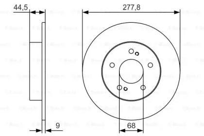 Тормозной диск на NISSAN MAXIMA 'BOSCH 0 986 479 T86'.