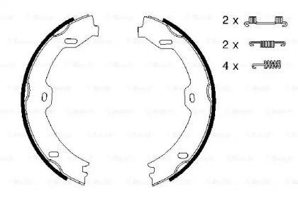 Гальмівні колодки ручника на Mercedes-Benz W211 BOSCH 0 986 487 666.