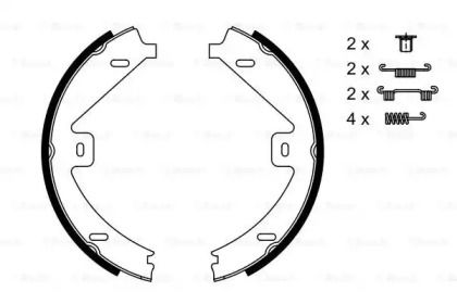 Гальмівні колодки ручника на Mercedes-Benz GLK  BOSCH 0 986 487 752.