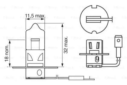 Лампа фары на TOYOTA SUPRA 'BOSCH 1 987 302 038'.