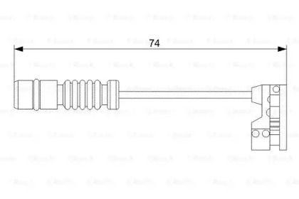 Датчик зносу гальмівних колодок BOSCH 1 987 473 008.