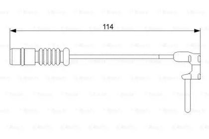 Датчик зносу гальмівних колодок BOSCH 1 987 473 011.