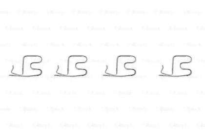 Скоби гальмівних колодок на Мітсубісі Карізма BOSCH 1 987 474 317.
