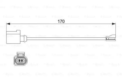 Датчик износа тормозных колодок на SEAT LEON 'BOSCH 1 987 474 512'.