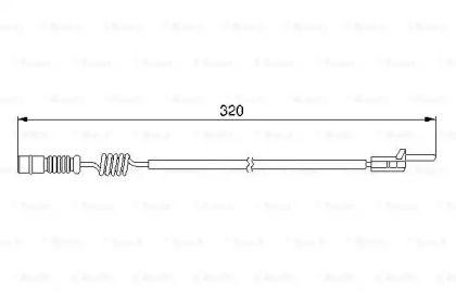 Датчик зносу гальмівних колодок BOSCH 1 987 474 964.