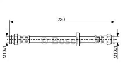 Тормозной шланг на FIAT MAREA 'BOSCH 1 987 476 633'.