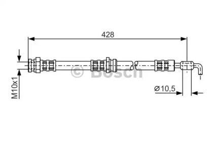 Гальмівний шланг на MAZDA MX-3 'BOSCH 1 987 476 966'.