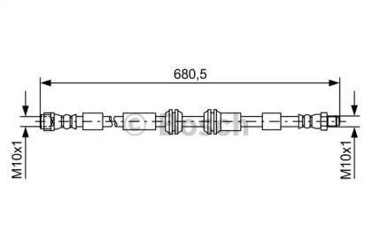 Гальмівний шланг на Mercedes-Benz Gl-Class  BOSCH 1 987 481 734.