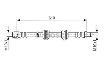 Гальмівний шланг на Mercedes-Benz Gl-Class  BOSCH 1 987 481 744.
