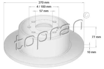Задний тормозной диск 'TOPRAN 200 945'.