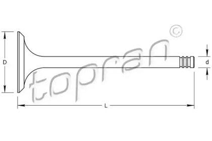 Впускний клапан TOPRAN 721 556.