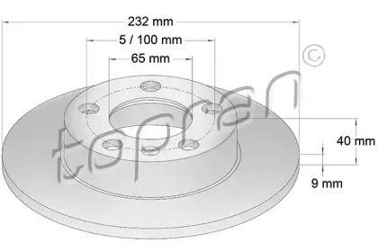 Задний тормозной диск TOPRAN 107 683.