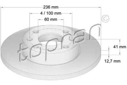 Передний тормозной диск TOPRAN 200 935.
