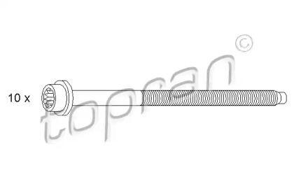 Болт ГБЦ (комплект) TOPRAN 109 548.