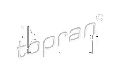 Впускний клапан TOPRAN 700 655.