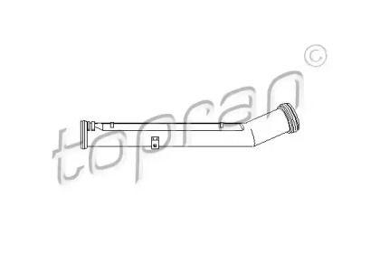 Патрубок радиатора на SEAT LEON TOPRAN 109 625.