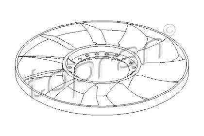 Крыльчатка вентилятора охлаждения двигателя 'TOPRAN 110 294'.