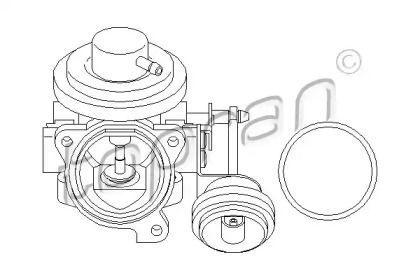 Клапан ЄГР (EGR) TOPRAN 110 874.