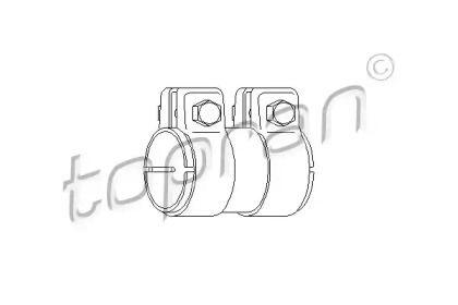 Хомут глушителя на SEAT LEON 'TOPRAN 107 220'.