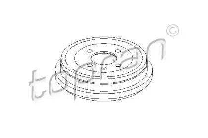 Задний тормозной барабан на Фольксваген Лупо 'TOPRAN 110 427'.